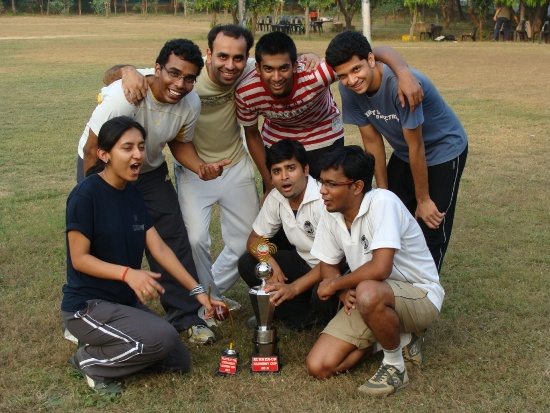 The runner up team of Harmony Cup at IIM Lucknow