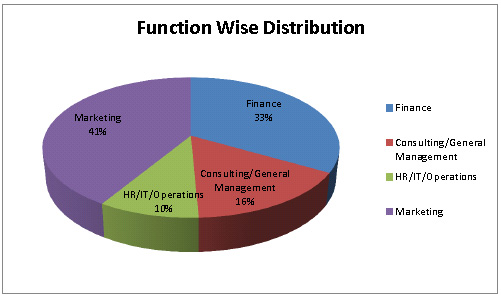 FMS summer placements 2012: function wise distribution