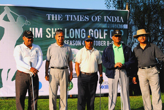IIM Shillong golf course: The tournament was teed off by Air Officer Commanding-in-Chief Air Marshal S. Varthaman, Lt. Gen. Rameswar Roy, Mr. Sudesh Kumar, Mr. A.L.Hek and Prof. Ashoke Dutta, Director of IIM Shillong