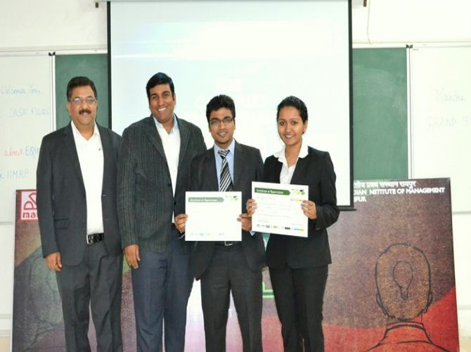 Marketing Event 'Case Files' winners with the judges.jpg