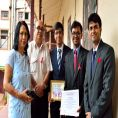 Meghalaya Aids Control Society felicitates ECoBiZ Club of IIM Shillong on World Blood Donor Day